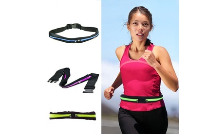 Expandable Dual Pocket Running Belt c8d7b193-4cc6-4576-b218-e00aaf7c6491