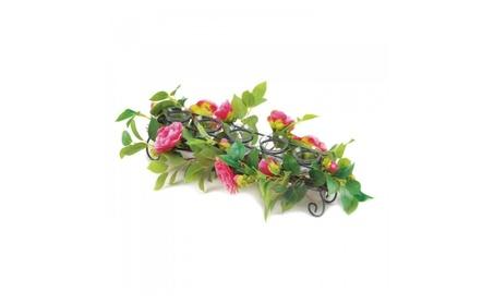 Pink Faux Floral Candleholder 90a3dde3-166c-4115-afdc-9115737d8abd