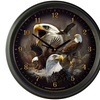 """American Expedition 16"""" Wall Clock - Bald Eagle Collage"""