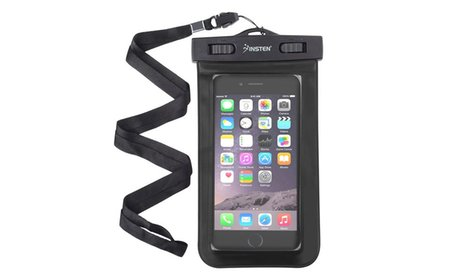 Insten Black Waterproof Bag Pouch with Lanyard for iPhone Samsung
