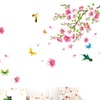 Cherry Blossom Flower Butterfly Tree Wall Stickers