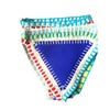Swimwear Beach Wave Two Pieces Weaving Swimsuit Knitted Bikini Set