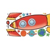 Roommates Rocket Giant Wall Decals