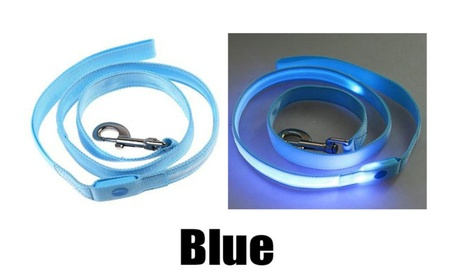 Blue LED Light Up Dog Pet Walking Leads Leash Clearance 55f1353c-6590-40ce-beb3-971bbe39117e