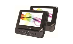 "Sylvania SDVD8716 7"" Dual-Screen Portable DVD Player (Manuf. Refurb.)"