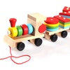Small Wooden Train And Geometric Shape Matching Early Educational Toy