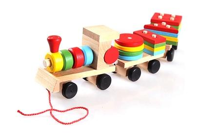 3 Parts Trailer Wooden Train Model Block Education Car Toys Unisex Kid Gift b9367a37-3ce0-4ba3-84d7-edb44a6802d7