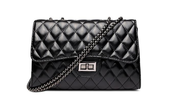 Women's Fashion Cross-Body Bags PU Leather Handbag Quilting Envelope S