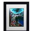 Lowell S.V. Devin 'The Existential Man and His Dog' Matted Black Framed Art