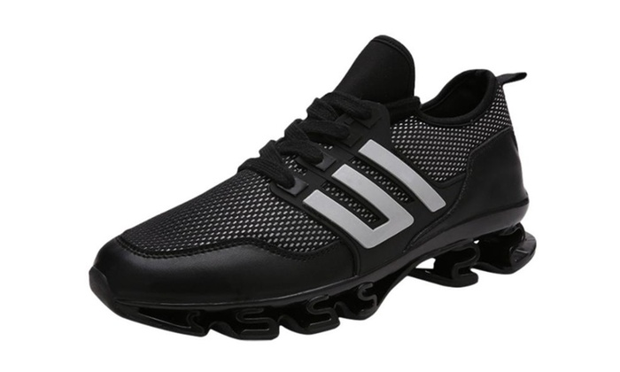 Men's PU Lace up Breathable Sneakers