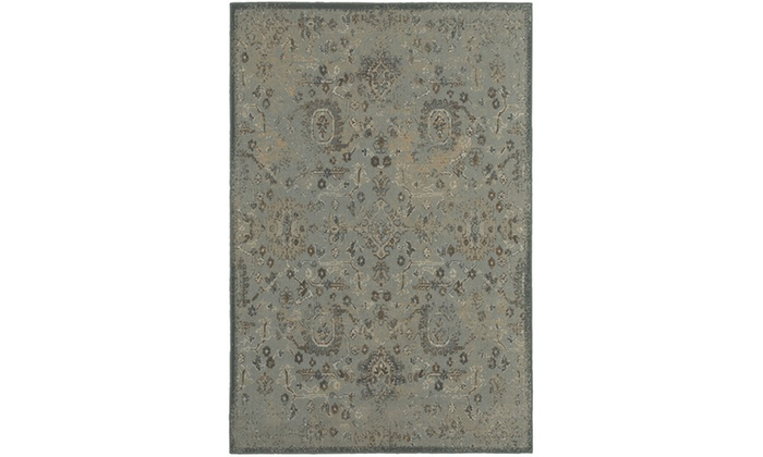 Monarch Alessa Blue Brown Distressed Area Rug Groupon