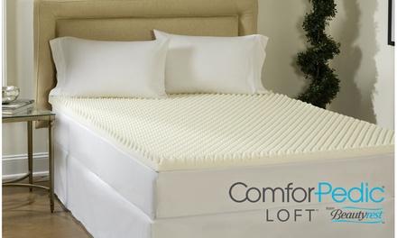 ComforPedic Loft from Beautyrest 4'' Reversible Memory Foam Mattress Topper