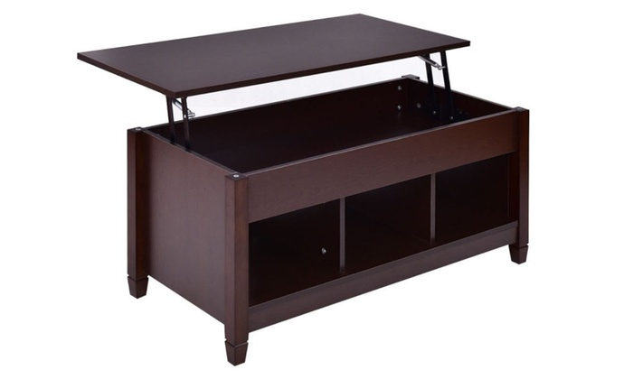 Lift Top Coffee Table Furniture Hidden Compartment And Storage Shelves
