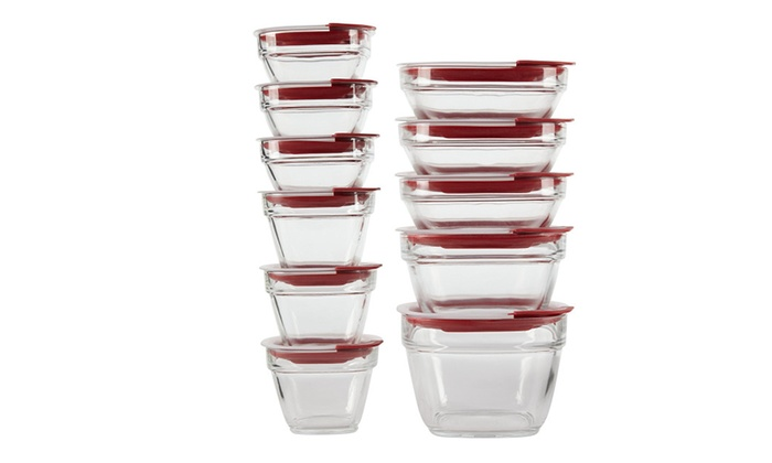Rubbermaid Easy Find Lids Glass Food Storage Containers 22 Piece
