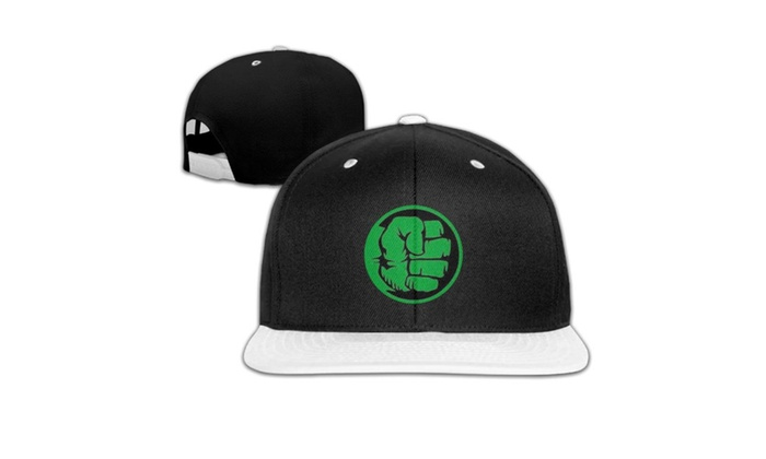 da0dd589131c1 Marvel Comics Incredible Hulk Fist Bump Baseball Cap Hats White ...