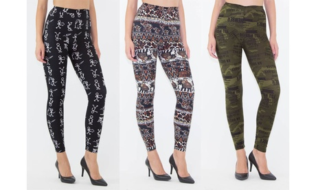 INDERO Junior Collection Best Selling Printed Brushed Leggings-3Pack aae686a6-456a-4f73-b101-2c9432c04b29