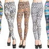 Ladies' Brushed Microfiber Graphic Leggings (3-Pack)