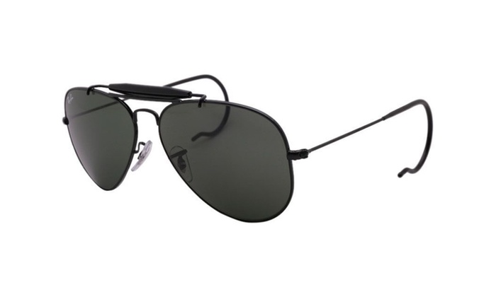 6f12401adaa Ray Ban outdoorsman RB3030 L9500 58 black   green classic g-15 natural