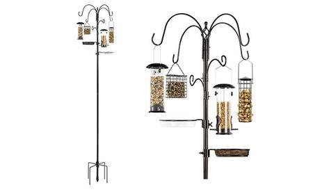 6-Hook Bird Feeding Station for Wild Birds w/ 4 Bird Feeders (Goods For The Home Patio & Garden Bird Feeders & Food) photo