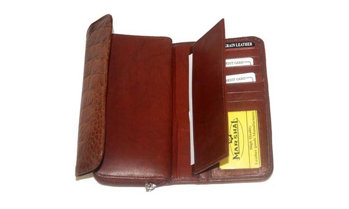 Ladies Genuine Leather Wallet Organizer Cellphone Holder