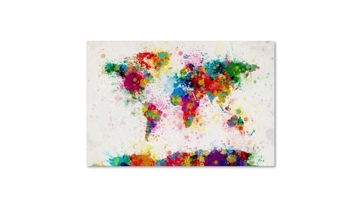 Michael tompsett paint splashes world map canvas art groupon art michael tompsett paint splashes world map canvas gumiabroncs Choice Image