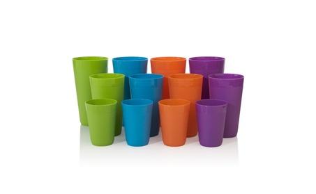 12pc Newport Unbreakable Plastic Cup Tumblers in 4 Assorted Colors 7a43df41-7e4e-455c-936f-582d3772dcc2