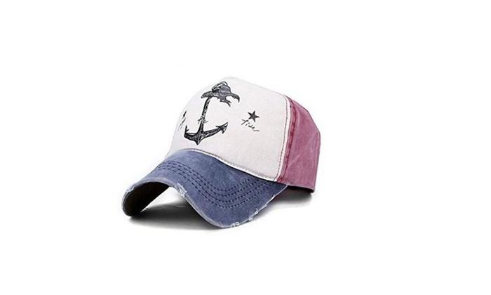 Men Women Baseball Cap Anchor Sun Outdoor Sport Snapback Hat