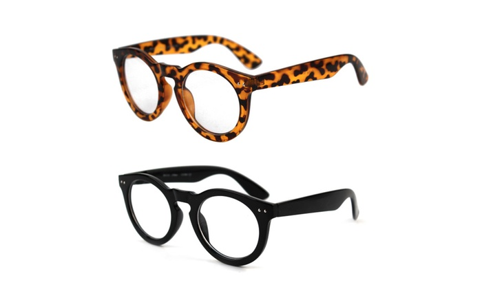 POP Fashionwear Classic Retro Round Clear Fashion Glasses P4016CL