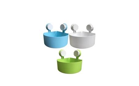 Bathroom Kitchen Plastic Suction Cup Corner Storage Rack Organizer 0e2f535f-d653-46cb-aebd-57aa0a1bc906
