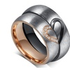 Couples Engagement Stainless Steel Ring Set