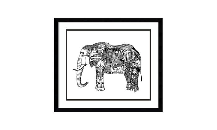 Up To 3% Off on Framed Art Print \'Goodbye Ele...   Groupon Goods