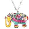 Colorful Elephant Pendant Necklace