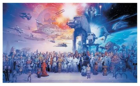 Roommates Decor Star Wars Saga Chair Rail Prepasted Mural 6' x 10.5' 270eec73-6de1-4026-90a1-99aa2e9ee7ce
