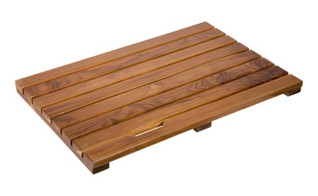 Ollieroo Luxury Spa Solid Teak Bath Mat Indoor Outdoor Shower Mat