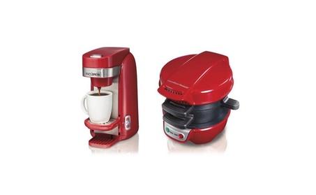 Hamilton Beach Single Serve Red Coffeemaker & Breakfast Sandwich Maker 77def4dc-72a7-46c7-befa-c747f694db5e