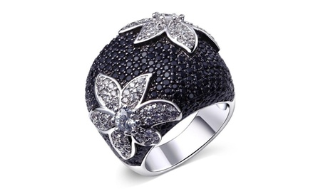 Fashion Women's 925 Sterling Silver Sapphire Engagement Ring