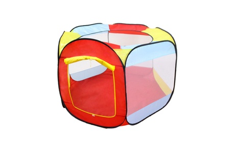 6 Side Pop Up Ball Pit Tent Play Tent w/Mesh Netting and Carrying Case