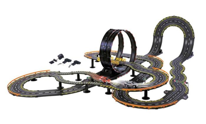 Big Racer Electric Power Road Racing Slot Car Set 36  Track  91919a2bd37d