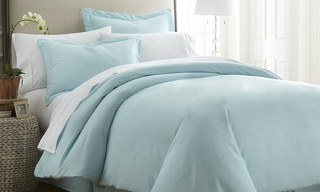 Feathered Nest Premium Double Brushed 3 Piece Duvet Cover Set