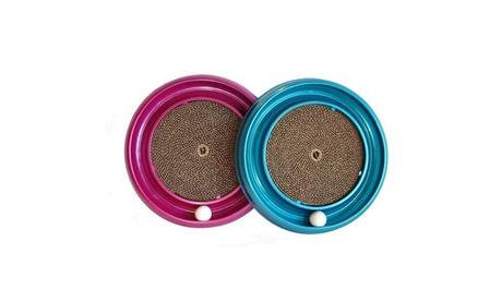 "Bergan Turbo Scratcher Cat Toy Assorted Colors 16"" x 16"" x 1.88 2852cb06-5a68-4baf-8d0f-770ffc71d4e4"