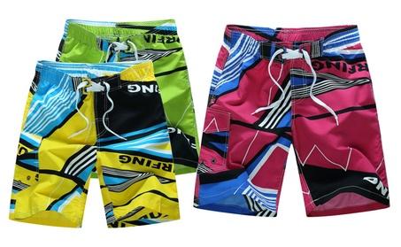 Men's Swim Trunks Quick Dry Beach Shorts Beachwear Watershorts