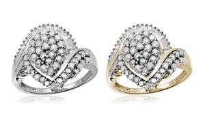 Jewelonfire CT White Diamond Pear Shape Ring in SS 11726