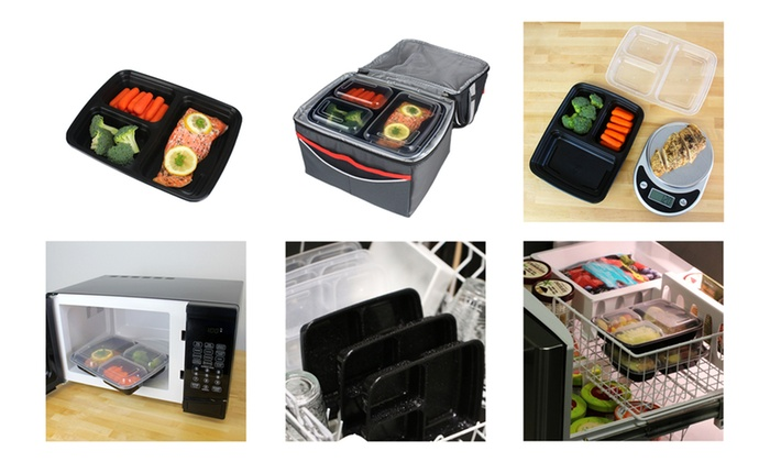 Meal Prep Bento Lunch Boxes With Lids 30 Piece Set Groupon