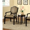 Jourden Espresso Contemporary 3-Piece Table and Chair Set