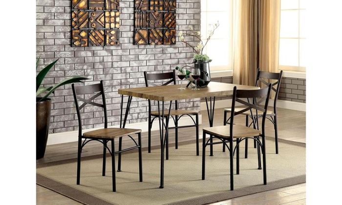 Furniture Of America Digame Industrial Dining Set (5 Piece) ...