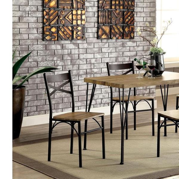 Furniture Of America Digame Industrial Dining Set (5 Piece)