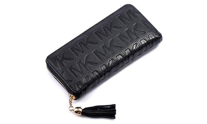 Women's Ladies Embossed Genuine Leather Long Wallet