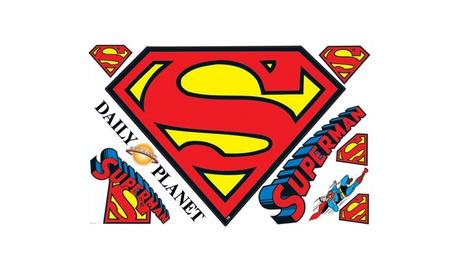Roommates Dry Erase Superman S-Shield Logo Giant Wall Decals feae8a8d-1fa5-4516-8697-5306181e5e74