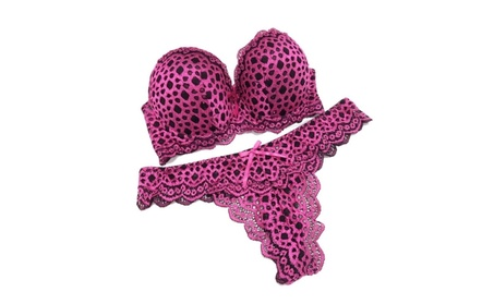Sexy Leopard Temptation ABC Push Up Lingerie Bra & Panties Set ea1d00d1-858c-4b16-af3f-ad1f1e46f644