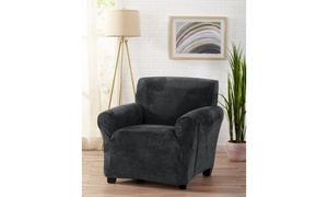 Gale Collection Plush Velvet Form-Fitting Stretchy Seat Slipcovers